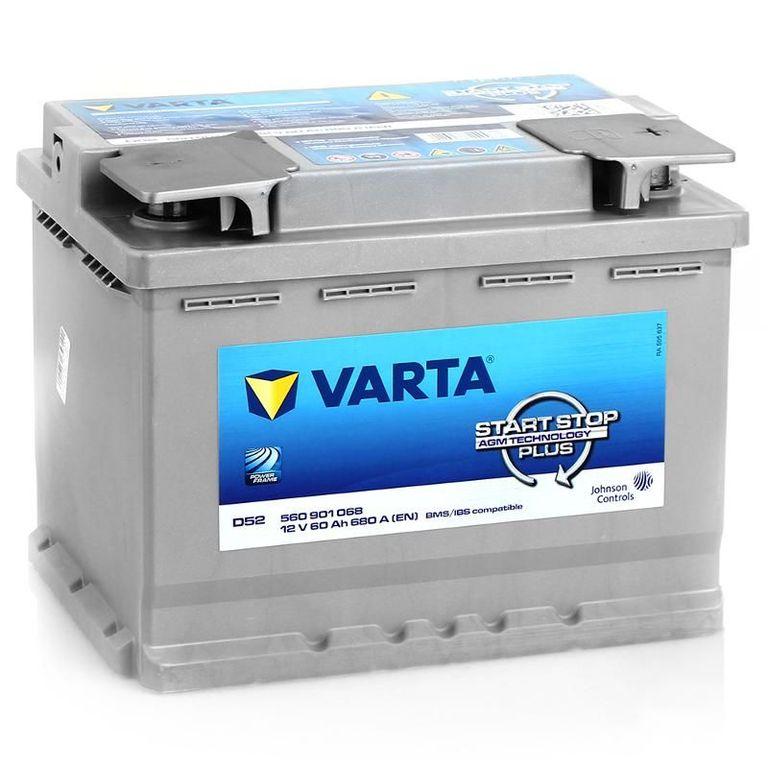Аккумулятор Varta AGM 60 R+