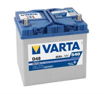 Аккумулятор Varta Blue Dynamic 60Ah 540A, L+ 560 411 054