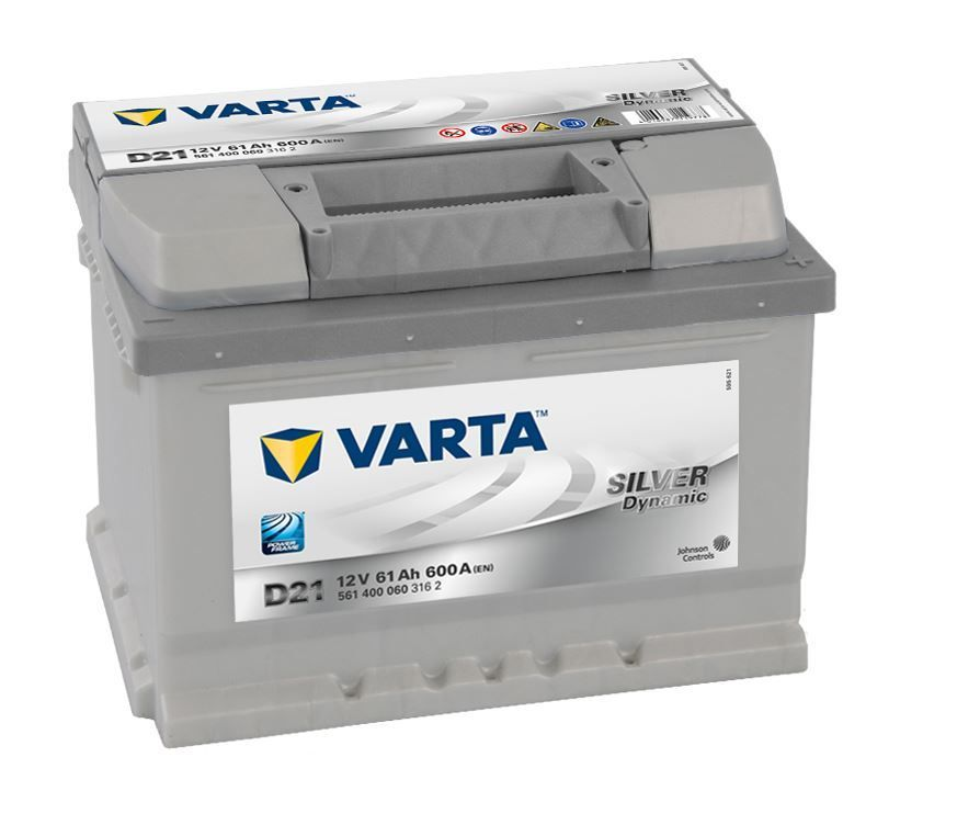 Аккумулятор Varta Silver Dynamic 61Ah 600A, R+ 561 400 060