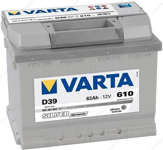 Аккумулятор Varta Silver 63 L+