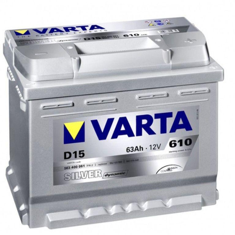 Аккумулятор Varta Silver Dynamic 63Ah 610A, R+ 563 400 061