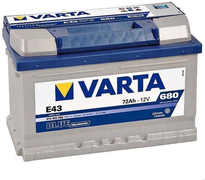 Аккумулятор Varta Blue Dynamic 72Ah 680A, R+ 572 409 068