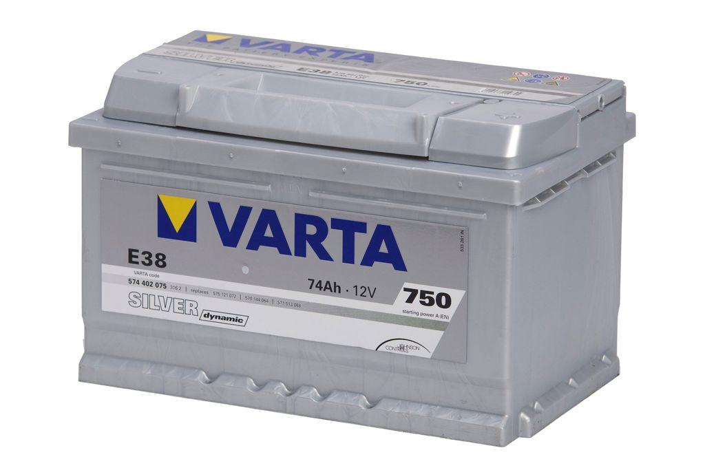 Аккумулятор Varta Silver Dynamic 74Ah 750A, R+ 574 402 075