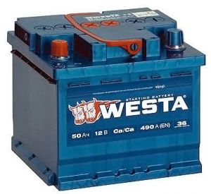 Аккумулятор Westa Premium 50 R+