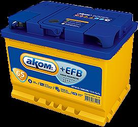 Аккумулятор Аком +EFB 65A, о/п