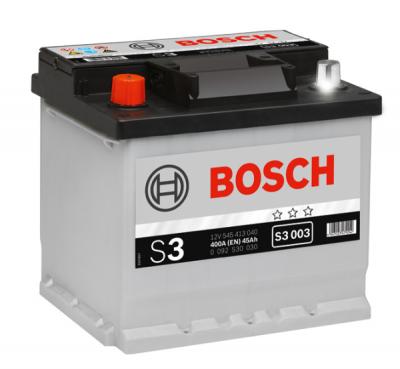 Аккумулятор Bosch S3 45A, L+ S3003