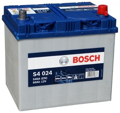 Аккумулятор Bosch S4 Silver Asia 60A R+ S4024