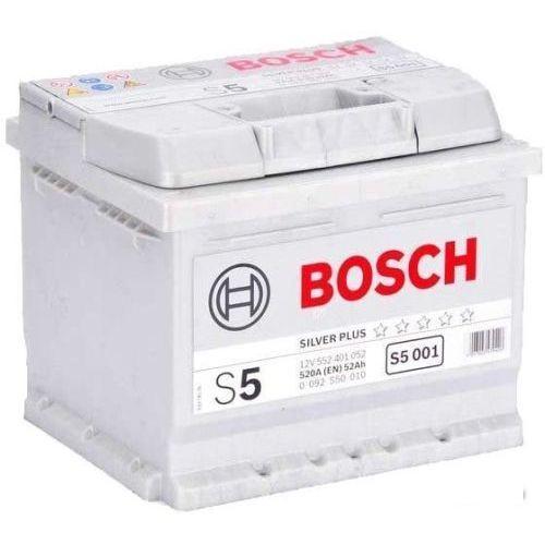 Аккумулятор Bosch S5 Silver Plus 52A, R+ S5001