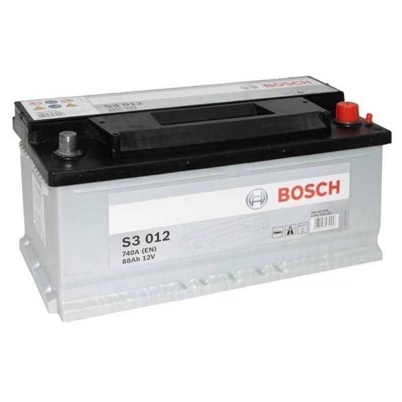 Аккумулятор Bosch S3 88A, R+ S3012