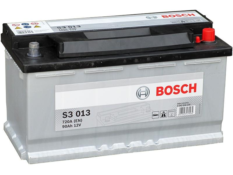Аккумулятор Bosch S3 90A, R+ S3013