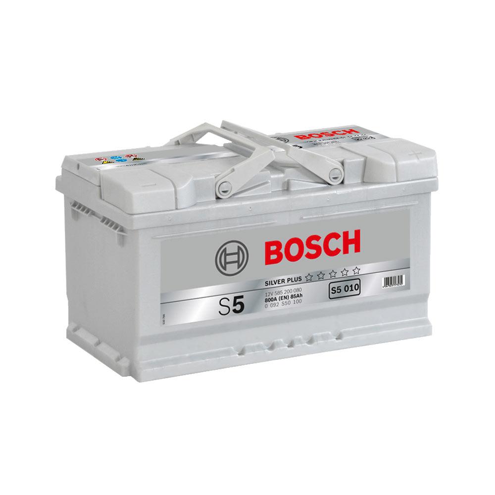 Аккумулятор Bosch S4 Silver Plus 85A, R+ S5010