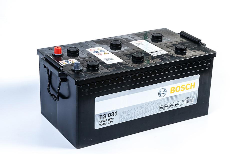 Аккумулятор Bosch T3 220A, L+ T3081