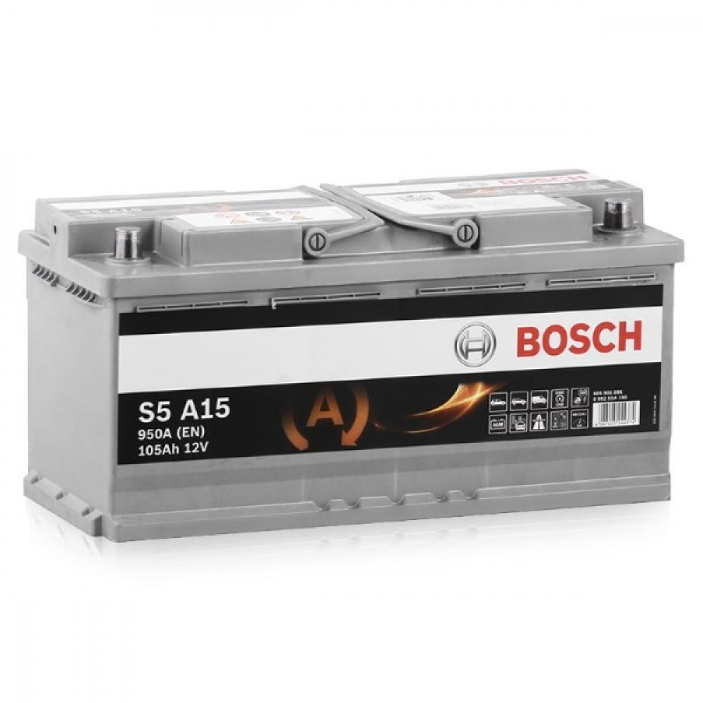 Аккумулятор Bosch S5 AGM 105A, R+ S5A15