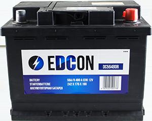 Аккумулятор автомобильный EDCON 56A, R+