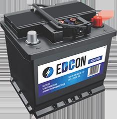 Аккумулятор автомобильный EDCON 52A, R+