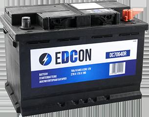 Аккумулятор автомобильный EDCON 70A, R+