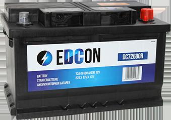 Аккумулятор автомобильный EDCON 72A, R+