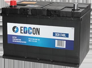 Аккумулятор автомобильный EDCON Asia 91A, L+