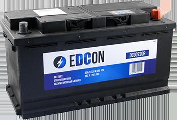 Аккумулятор автомобильный EDCON 90Ah 720A, R+