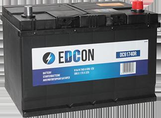 Аккумулятор автомобильный EDCON 91Ah 740A, R+