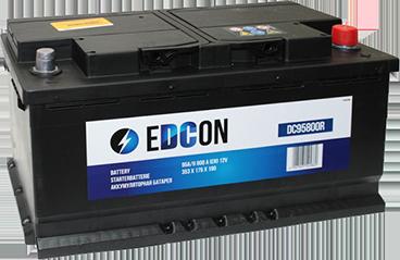 Аккумулятор автомобильный EDCON 100Ah 830A, R+