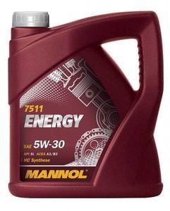 Масло моторное Mannol Energy 5W-30 синтетика, 4 л.