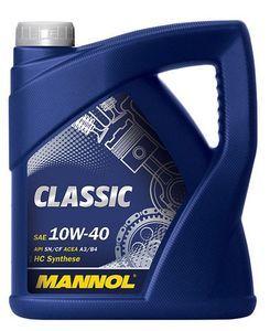 Масло моторное Mannol Classic 10W-40 полусинтетика, 4 л.