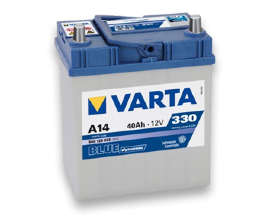 Аккумулятор Varta Blue Dynamic 40Ah 330A, R+ 540 125 033