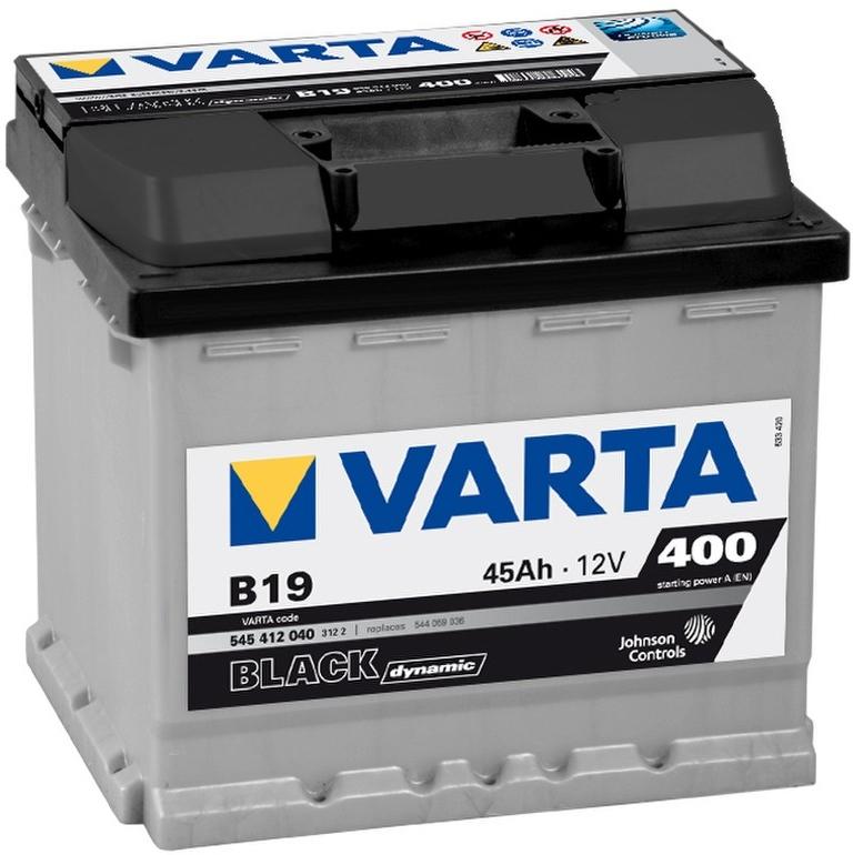 Аккумулятор Varta Black Dynamic 45Ah 400A, R+ 545 412 040