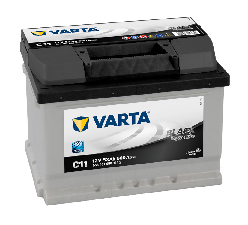 Аккумулятор Varta Black Dynamic 53Ah 500A, R+ 553 401 050