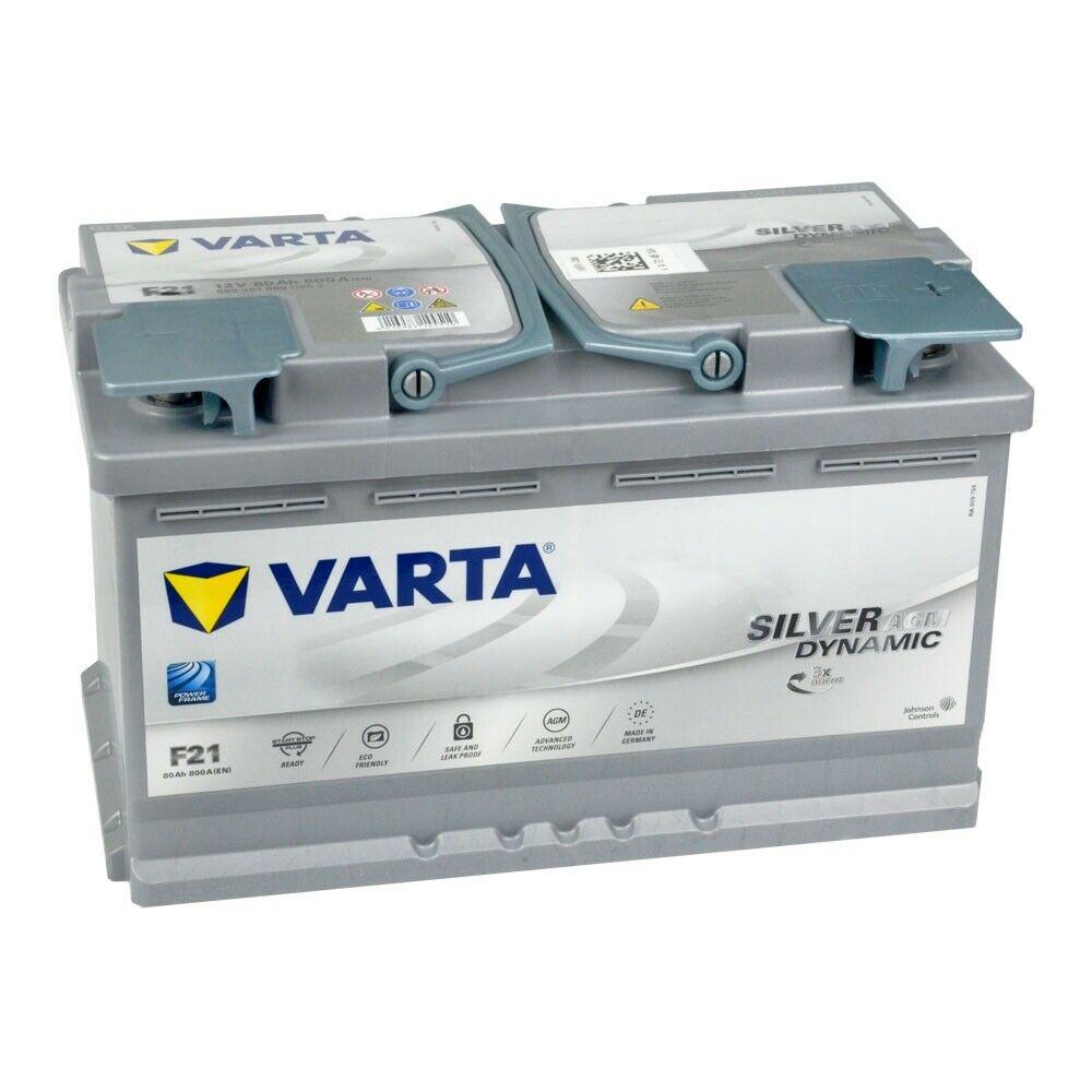 Аккумулятор Varta Silver Dynamic AGM 80Ah 800A, R+ 580 901 080