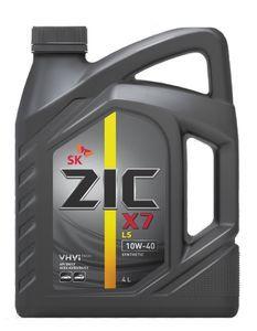 Масло моторное ZIC X7 LS 10W-40 синтетика, 4 л.