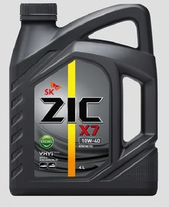 Масло моторное ZIC X7 Diesel 10W-40 синтетика, 4 л.