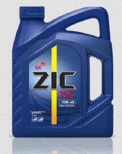 Масло моторное ZIC X5 10W-40 полусинтетика, 6 л.