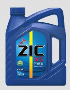 Масло моторное ZIC X5 Diesel полусинтетика 10W-40, 6 л.