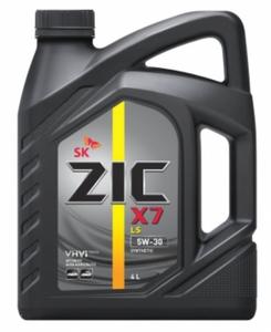 Масло моторное ZIC X7 LS синтетика 5W-30, 4 л.