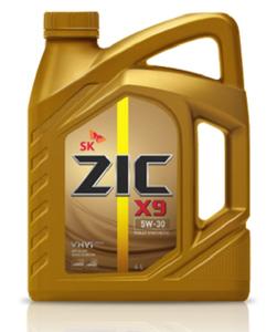 Масло моторное ZIC X9 синтетика 5W-30, 4 л.
