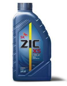 Масло моторное ZIC X5 10W-40 полусинтетика, 1 л.
